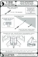 Master 1/32 Static Dischargers - Type used on Modern Sukhoi Jets (12pcs+2spare) # 32-085